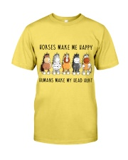 Horses Make Me Happy Premium Fit Mens Tee front
