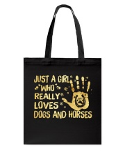 Dogs And Horses Tote Bag thumbnail