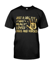 Dogs And Horses Classic T-Shirt front