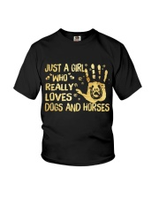 Dogs And Horses Youth T-Shirt thumbnail
