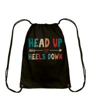 Head Up Heels Down Drawstring Bag thumbnail