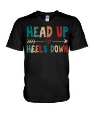 Head Up Heels Down V-Neck T-Shirt thumbnail