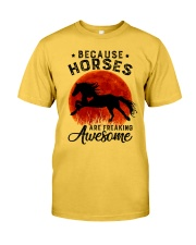 Horses Are Freaking Awesome Classic T-Shirt front
