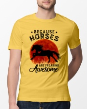 Horses Are Freaking Awesome Classic T-Shirt lifestyle-mens-crewneck-front-13
