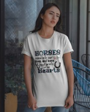 Horses Come Into Our Lives Classic T-Shirt apparel-classic-tshirt-lifestyle-08