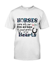 Horses Come Into Our Lives Classic T-Shirt front