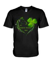 St Horse Tricks Day V-Neck T-Shirt thumbnail
