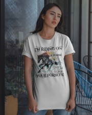 I'm Riding On A Horse Classic T-Shirt apparel-classic-tshirt-lifestyle-08