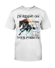 I'm Riding On A Horse Classic T-Shirt front