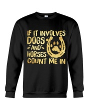 Dogs And Horses Crewneck Sweatshirt thumbnail