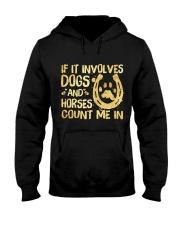 Dogs And Horses Hooded Sweatshirt thumbnail