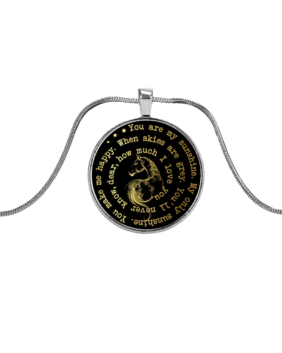 You Are My Sunshine Metallic Circle Necklace
