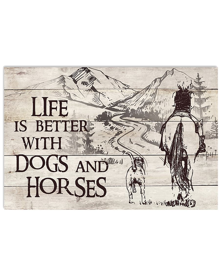 Dogs And Horses 17x11 Poster