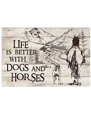 Dogs And Horses 17x11 Poster front