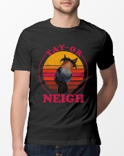 Yay Or Neigh Classic T-Shirt lifestyle-mens-crewneck-front-13