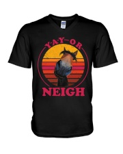 Yay Or Neigh V-Neck T-Shirt thumbnail