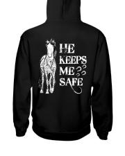 He Keeps Me Safe Hooded Sweatshirt back