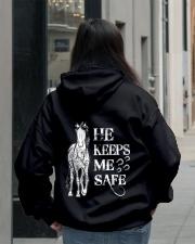 He Keeps Me Safe Hooded Sweatshirt lifestyle-unisex-hoodie-back-2