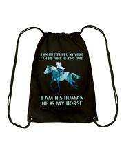 He Is My Horse Drawstring Bag thumbnail