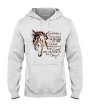 God Made A Horse Hooded Sweatshirt front