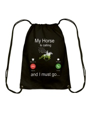 My Horse Is Calling Drawstring Bag thumbnail