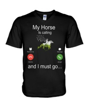 My Horse Is Calling V-Neck T-Shirt thumbnail