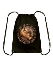 Horses Are True Friends Drawstring Bag thumbnail