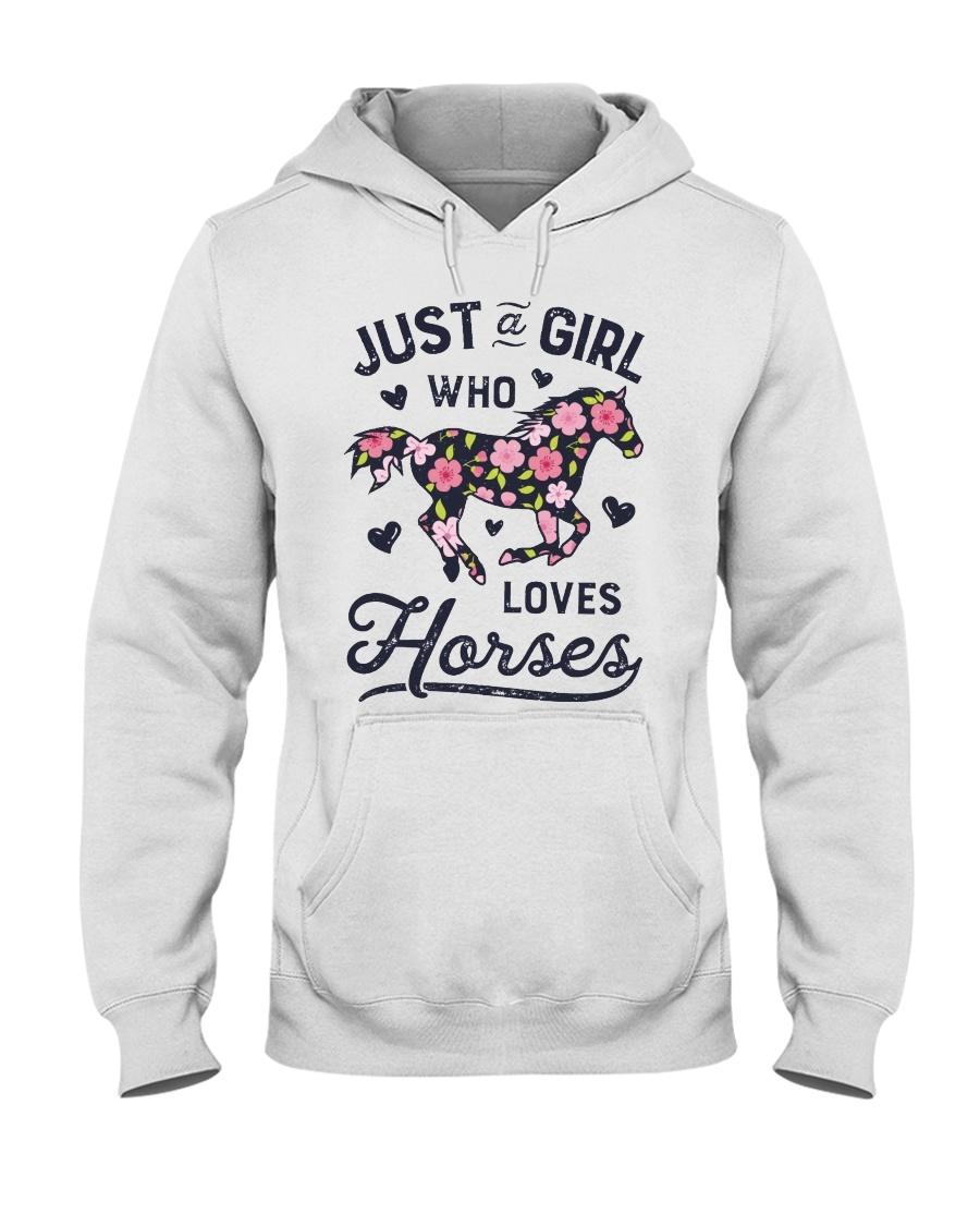 Just A Girl Loves Horse Hooded Sweatshirt