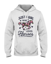 Just A Girl Loves Horse Hooded Sweatshirt front
