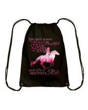It Is A Beautiful Ride Drawstring Bag tile
