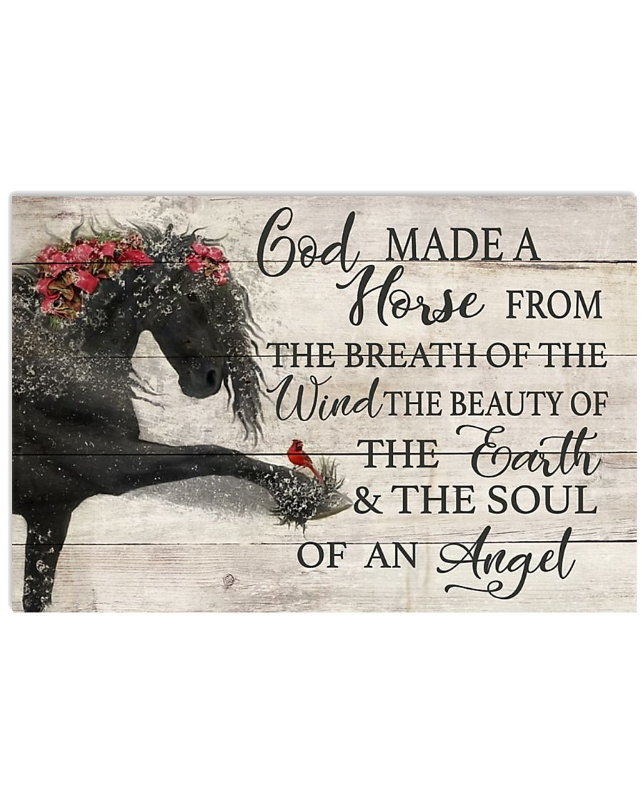 God Made A Horse 17x11 Poster