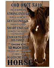 God Created A Horse 11x17 Poster front