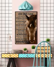 God Created A Horse 11x17 Poster lifestyle-poster-6