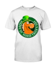 Happy St Horse Trick's Day Classic T-Shirt front
