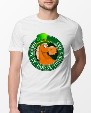 Happy St Horse Trick's Day Classic T-Shirt lifestyle-mens-crewneck-front-13