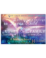 God Created A Horse 17x11 Poster front