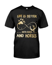 Dogs And Horses Classic T-Shirt thumbnail