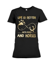 Dogs And Horses Premium Fit Ladies Tee thumbnail