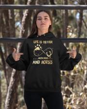 Dogs And Horses Hooded Sweatshirt apparel-hooded-sweatshirt-lifestyle-05