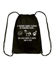 Horse And Dog Drawstring Bag thumbnail