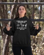 Horse And Dog Hooded Sweatshirt apparel-hooded-sweatshirt-lifestyle-05