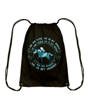 He Is My Horse Drawstring Bag tile