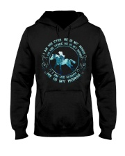 He Is My Horse Hooded Sweatshirt thumbnail