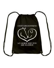 My Horse And Dog Are Allergic Drawstring Bag thumbnail