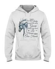 Horses Are True Friends Hooded Sweatshirt front