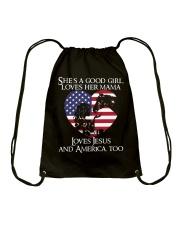 She Is A Good Girl Drawstring Bag thumbnail