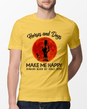 Horses And Dogs Make Me Happy Classic T-Shirt lifestyle-mens-crewneck-front-13