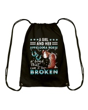 A Girl And Her Appaloosa Horse Drawstring Bag tile