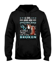 A Girl And Her Appaloosa Horse Hooded Sweatshirt thumbnail