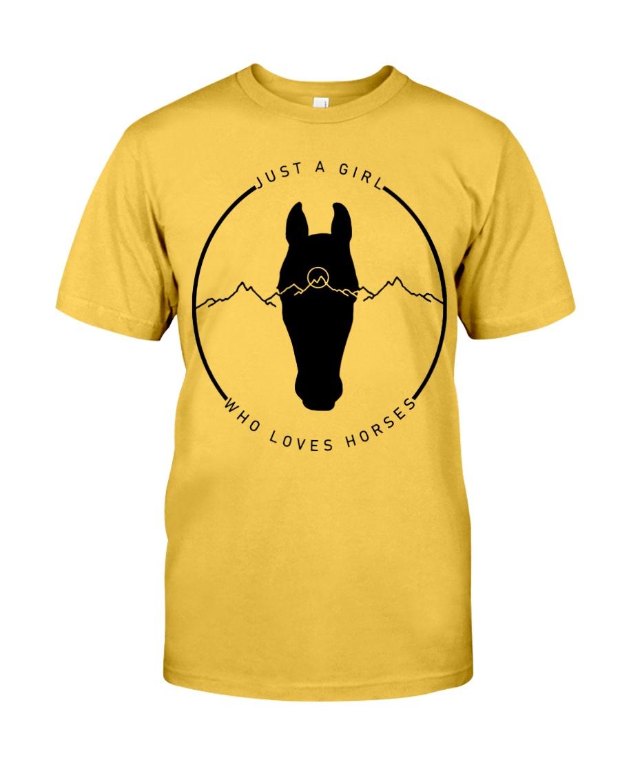 A Girl Loves Horses Classic T-Shirt